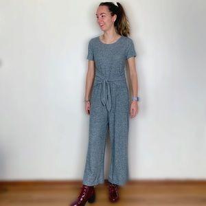 Art class gray sweater jumpsuit wide leg pant bow